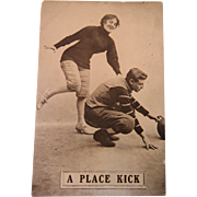 Football A Place Kick Woman 1910 Post Card