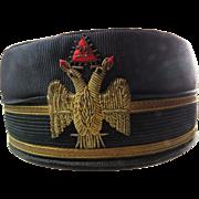 32nd Degree Masons Hat Cap Gold Braid Box
