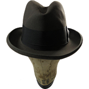 Begg Gray Felt Gentlemans Homburg Hat New York