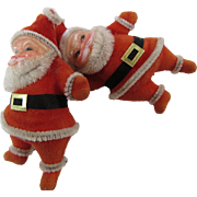 Jolly Ole Dancing Santas 1970s Gift Package Ties Ornaments