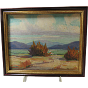 Landscape Original Painting 20th Century Signed