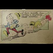 Post Card Signed Lederer Posted 1911 Rohnerville CA