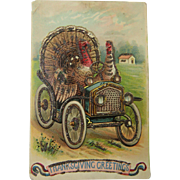 Sparkling Turkey Thanksgiving Post Card