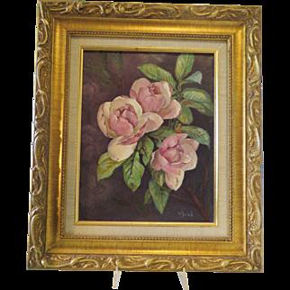 Original Painting After Paul de Longpre Signed M Sierk RAL Member