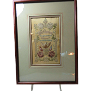 St. Louis 1904  Stitchery On Silk Panel Framed