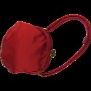 Red Satin Evening Petite Bag Pert Bow