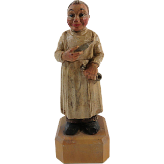 Dentist Figurine  Hand Carved Wood Toriart Italy