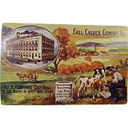 Blatchford's Calf Meal Advertising Post Card