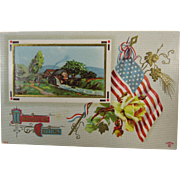 Patriotic Thanksgiving Greetings 1914 Postcard