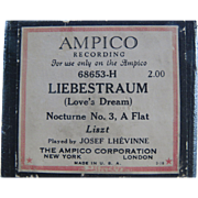 Ampico Reproducing Piano Roll Liebestraum Dream 68653H