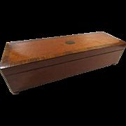 Two Melody Key Wind Music Box Wood Case