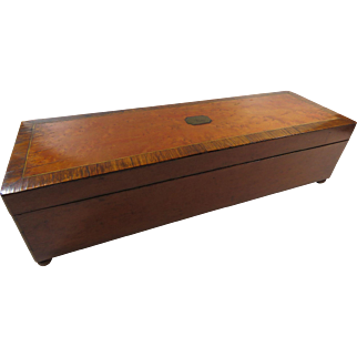 1920s Key Wind Music Box Maple Two Melodies