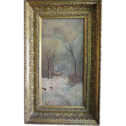 Oil On Canvas Antique Continental Original Painting