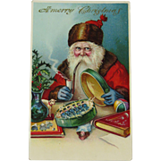 Kris Kringle Santa Claus Father Christmas 1909 PostCard