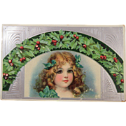 Angelic Image Post Card 1908 Christmas Holly