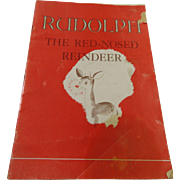 1939 Rudolph The Red-Nosed Reindeer Montgomery Ward Booklet