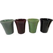 Bauer Art Pottery Monterey Moderne Tumblers