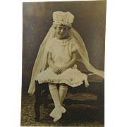 Confirmation Cutie Antique Photograph
