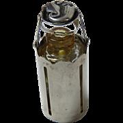 Georg Jensen Sterling Crystal Perfume Flaconette Vial