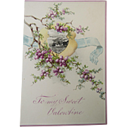 Romantic Valentine Card Circa 1900 Unused