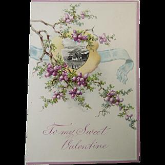 Romantic Valentine Card Circa 1900 Unused