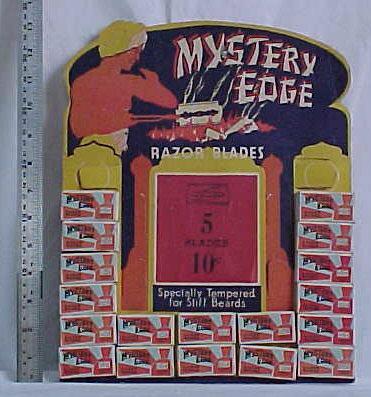 Mystery Edge Razor Blades Advertising Sales Display