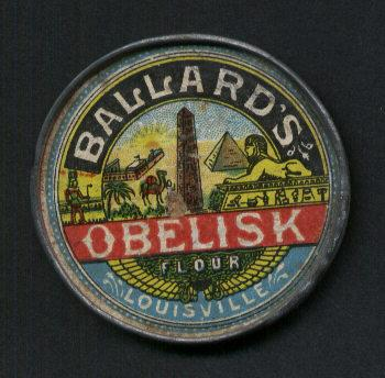 Advertising Pocket Mirror for Obelisk Flour