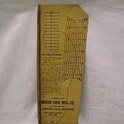 Shoe Salesman's Advertising Tin Foot Measure