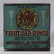 1920s Box of Kendall & Whitney Fruit Jar Rings - Unused