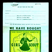 Girl Scout Cookie Sale Window Sticker Pad