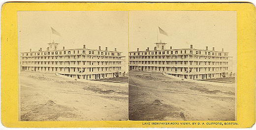 Newport, Vermont Memphremagog House Stereoview by Clifford