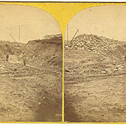 Thomaston, Maine K&L RR Construction Stereoview by Fernald