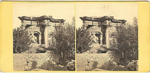 Early Baalbek, Lebanon Circular Temple Stereoview by Good
