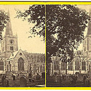 Early Stratford on Avon, Warwickshire, England Church Stereoview by Bedford