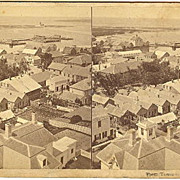 Nantucket, Massachusetts Village Panorama Stereoview by Freeman