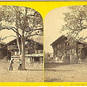 Early Brienz, Switzerland Chalet Stereoview by W.England