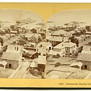 Nantucket, Massachusetts Panorama Stereoview by Kilburn Bros