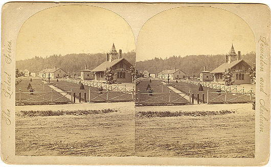 Auburn, Maine Stereoview Maine Central Railroad Depot