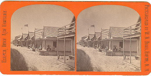 Hampton Beach, New Hampshire Summer Cottages Stereoview by Hobbs