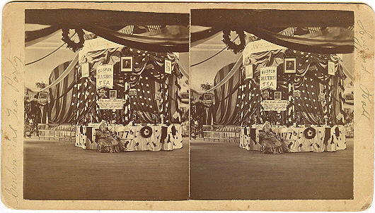Belfast, Maine Centennial Tea Party Stereoview by Tuttle