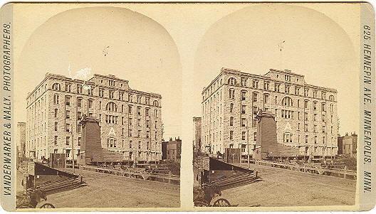 "Minneapolis, Minnesota Pillsbury ""A"" Mill Stereoview by Vanderwarker & Nally"