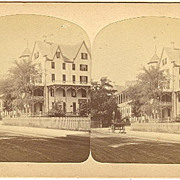 Newport, Rhode Island Ocean House Stereoview by Williams