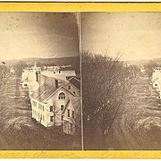 Norway, Maine Stereoview Main Street Panorama