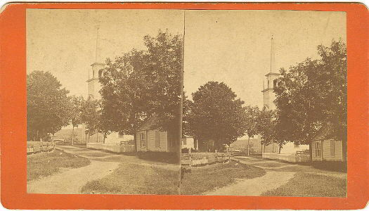 Livermore Falls, Maine 1st Universalist Church Stereoview by Vose & Paul