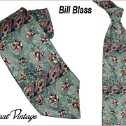 Funky 1970's Bill Blass Tie - Retro Floral/Roses  4""
