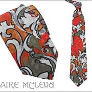"Vintage GUY LAROCHE Men's Silk Tie - 3-3/4"""