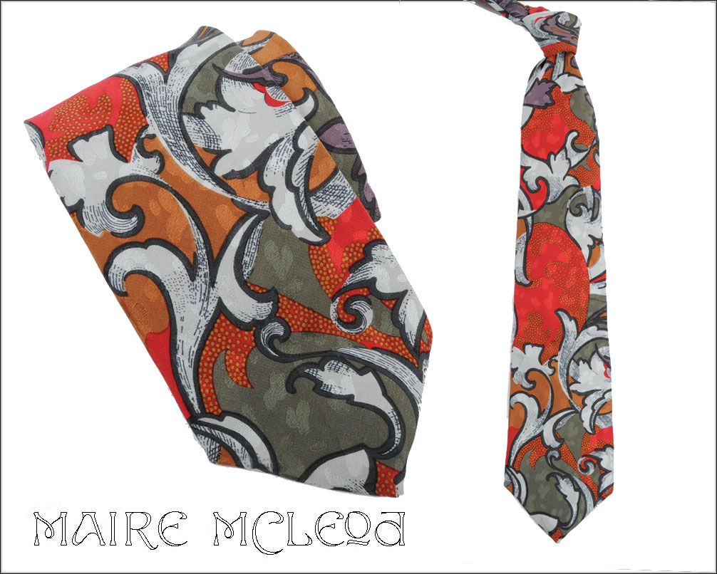 Vintage GUY LAROCHE Men's Silk Tie - 3-3/4""
