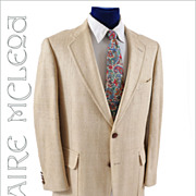 1960's Men's Raw Silk Sport Coat - Majer  41-42