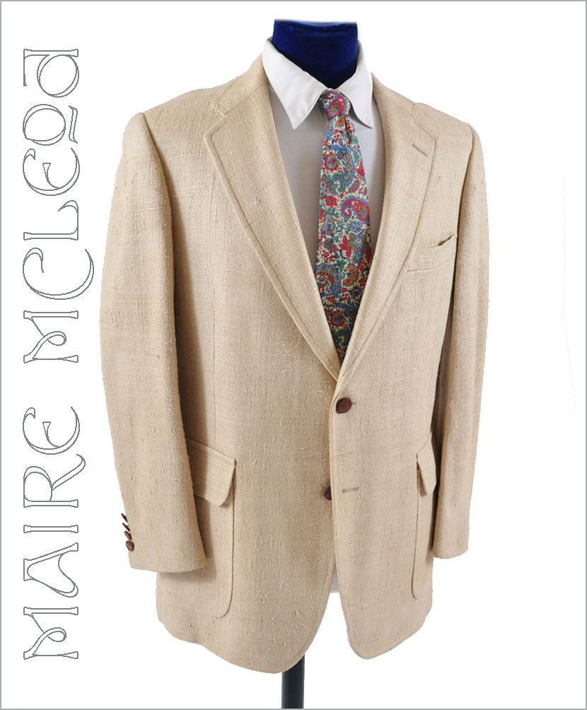 1960's Men's Raw Silk Sport Coat - Majer  41-42