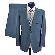 Men's 1970s Pinstripe Suit Western Look - Hart Schaffner Marx 38-40
